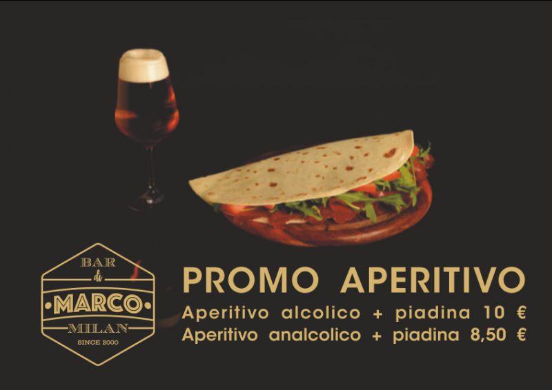 IL BAR DI MARCO offerta aperitivo alcolico piadina tadino - promozione happy hour analcolico