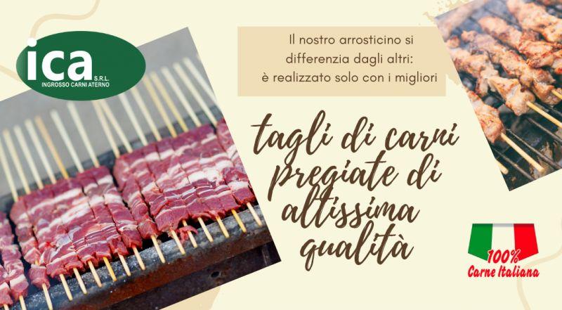 I.C.A. INGROSSO CARNI ATERNO SRL – vendita di arrosticini di alta qualità freschi e surgelati all'Aquila