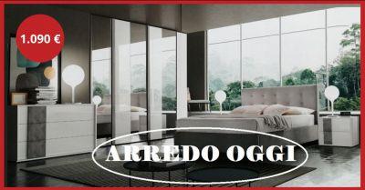 offerta camera con armadio a specchio caserta occasione camera bianca e grigia napoli