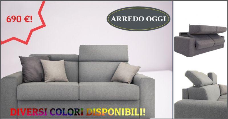 offerta divano letto con testiera reclinabile caserta - occasione divano letto tessuto napoli