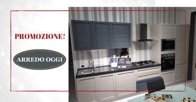 promozione cucina beige e grigia caserta offerta cucina a gas lineare con due forni napoli