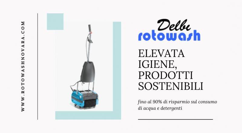 Vendita noleggio attrezzature professionali e semi-professionali per le pulizie civili ed industriali a Novara – Occasione noleggio DELBI ROTOWASH a Novara