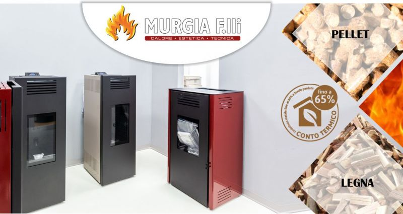 F.lli Murgia Arzana - offerta stufa a pellet  Montegrappa Lato ad aria calda ventilata