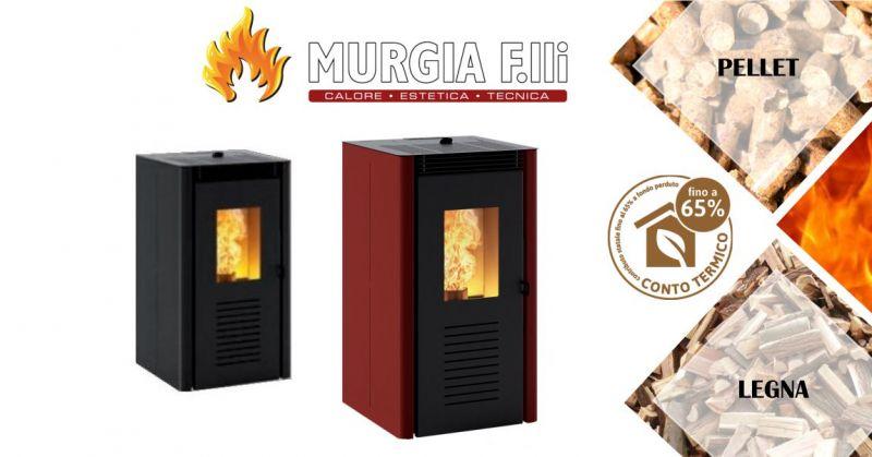 F.lli Murgia Arzana - offerta stufa a pellet Montegrappa Nodo ad aria calda ventilata