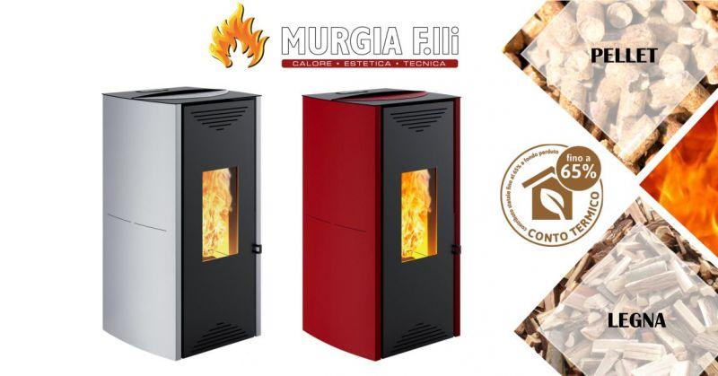 F.lli Murgia Arzana - offerta termostufa a pellet Montegrappa Tuga acqua calda
