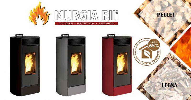 F.lli Murgia Arzana - offerta stufa a pellet Lodi  Invicta ad aria calda ventilata