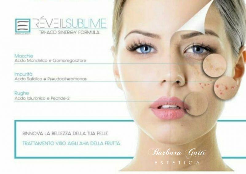 ESTETICA GATTI BARBARA offerta trattamento viso acido glicolico reveil sublime promozione settembre