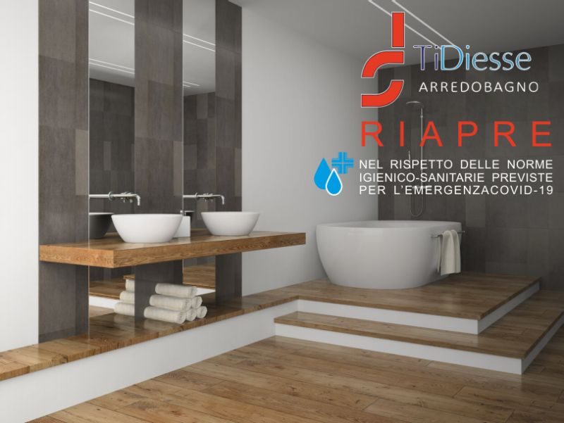 T.D.S. ARREDOBAGNO negozio aperto norme igienico sanitarie covid – offerta negozi arredamenti aperti