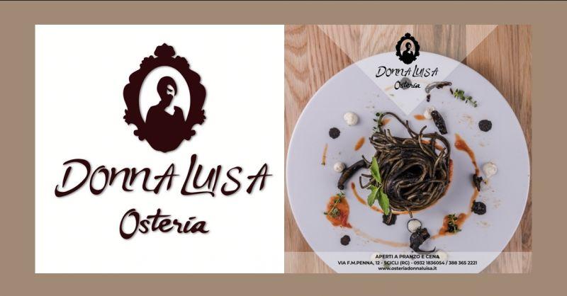 offerta trattoria tipica ragusa - occasione ristoranti con menu fisso ragusa