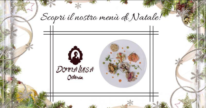 OSTERIA DONNA LUISA - offerta ristorante per pranzo di natale a base di pesce ragusa