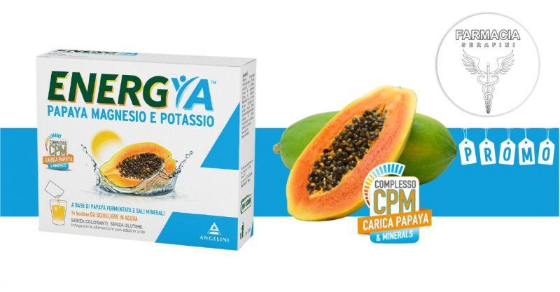 FARMACIA SERAFINI - promozione Energya papaya magnesio e potassio integratore