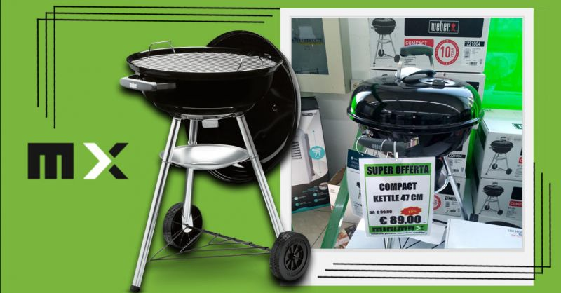 Promozione Barbecue a carbone Compact Kettle Cagliari - Offerta Barbecue Weber kettle 47 Sestu