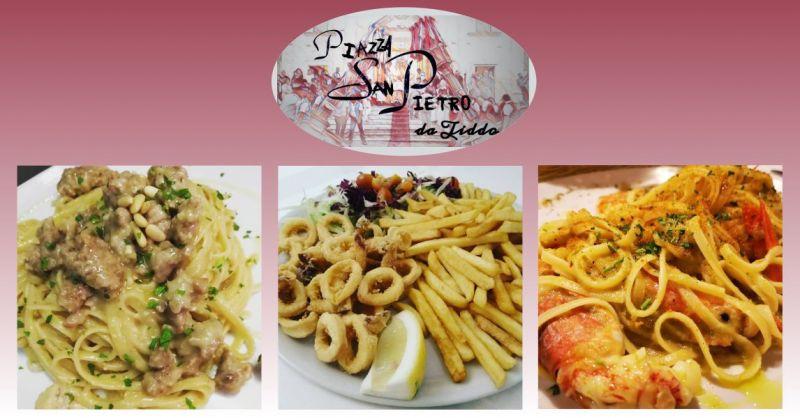Piazza San Pietro da Tiddo - offerta ristorante di carne e pesce con tavoli all aperto