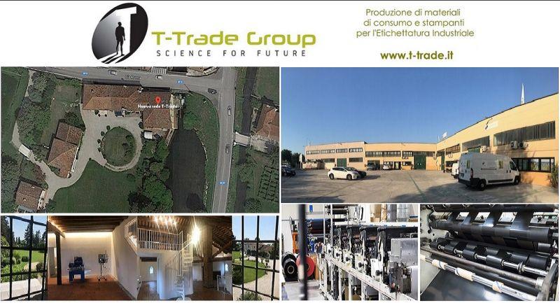 T-Trade - Herstellung von Linerless-Etikettendruckern für Thermotransferbänder Made in Italy
