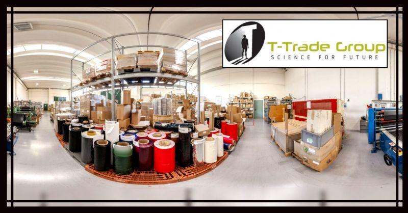 T-TRADE GROUP - Promozione etichette autoadesive e nastri a trasferimento termico made in Italy
