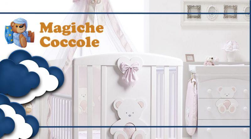 MAGICHE COCCOLE - Offerta cameretta completa ITALBABY LETTINO PELUCHE BAGNETTO e MATERASSO