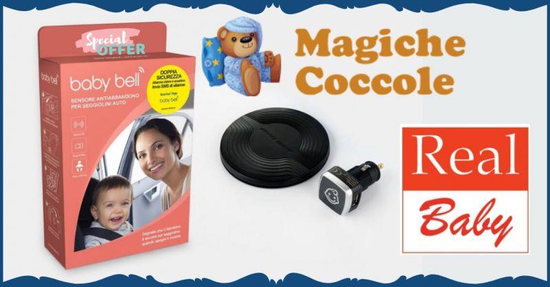 MAGICHE COCCOLE - Occasione vendita online Baby Bell dispositivo auto anti abbandono seggiolino