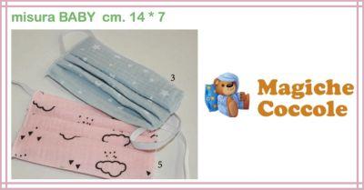 magiche coccole promozione vendita online mascherina per bambino protettiva covid 19 picci