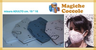 magiche coccole offerta vendita online mascherine in tnt e cotone lavabile e riutillizabile