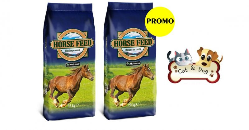 CAT & DOG - OFFERTA MANGIME HORSE FEED ALIMENTO COMPLETO PER CAVALLI SPORTIVI