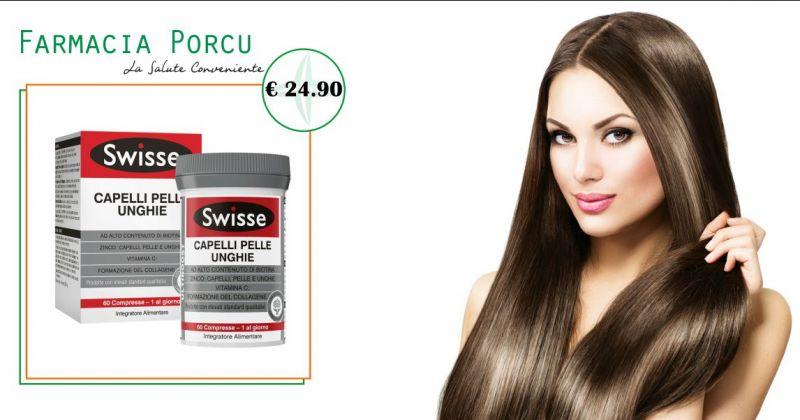 Farmacia Porcu a Sassari - offerta integratore Swisse nutrire rinforzare capelli pelle e unghie
