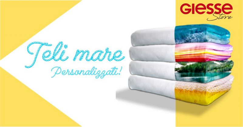 GIESSE STORE ONLINE - offerta telo mare personalizzato in spugna di cotone beach towel