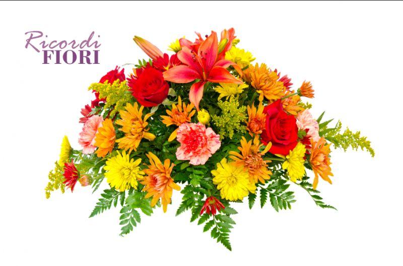 RICORDI FIORI cuscino di fiori personalizzato - omaggio floreale cerimonia funebre