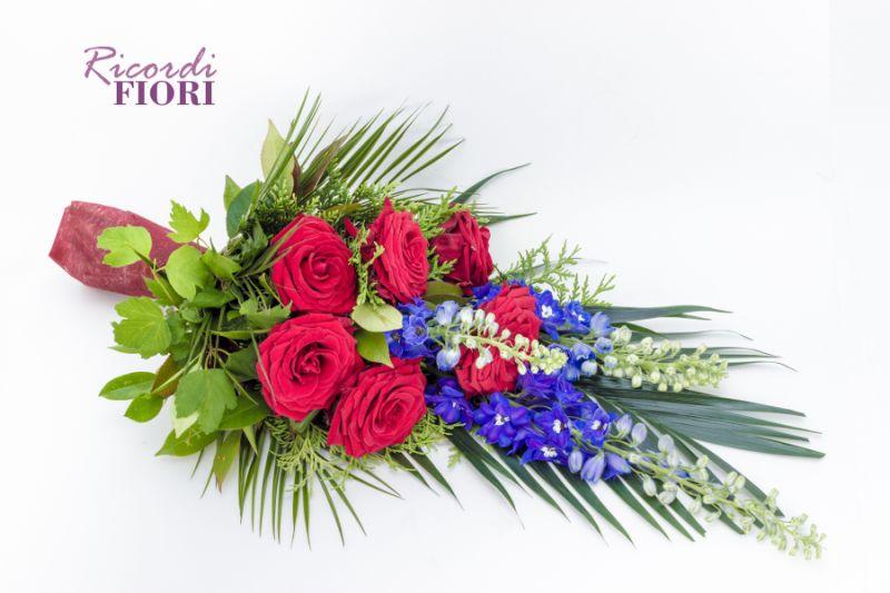 RICORDI FIORI palma funebre personalizzata - omaggio floreale cerimonia funebre