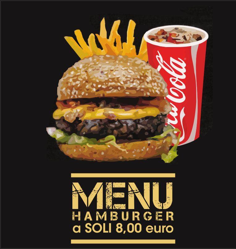DA VINCI offerta menu hamburger - promozione consegna a domicilio gratuita