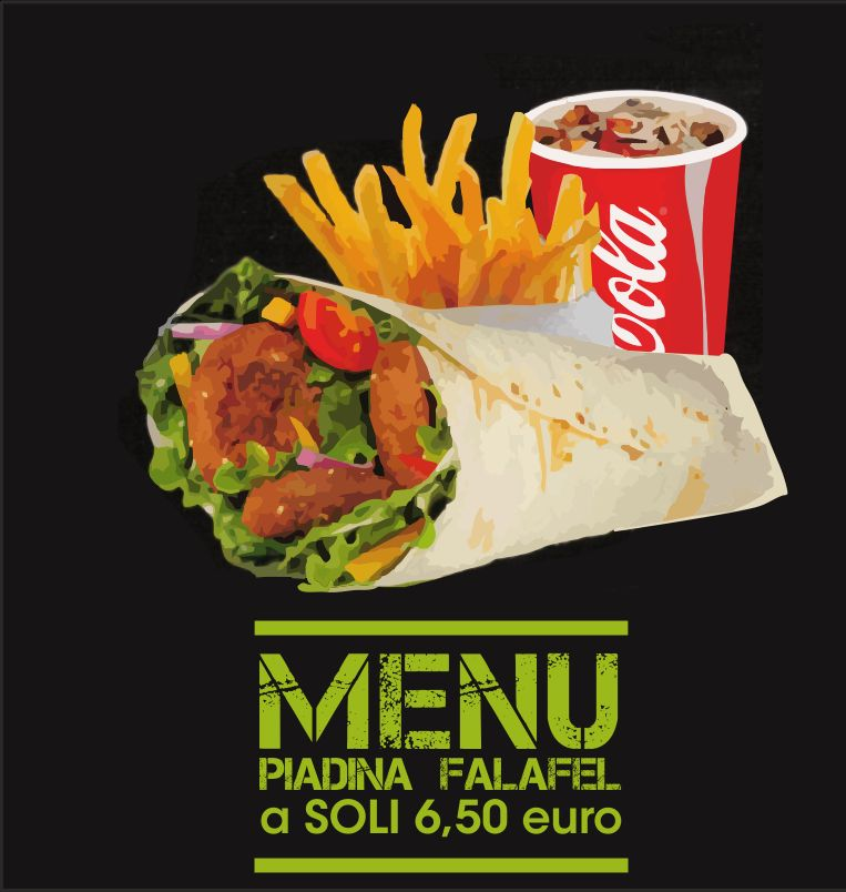 DA VINCI offerta piadina falafel - promozione consegna a domicilio gratuita