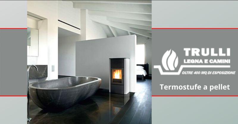 TRULLI LEGNA E CAMINI - Offerta servizio vendita termostufe a pellet roma