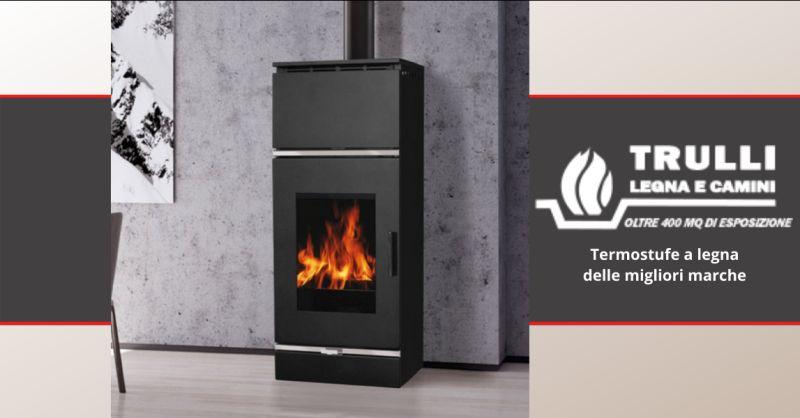 TRULLI LEGNA E CAMINI - offerta termostufe a legna moderne anzio