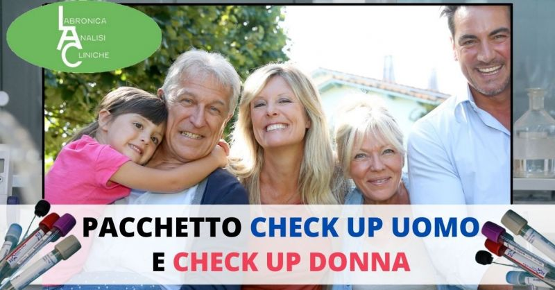 promozione Check – up completo analisi del sangue Uomo e donna - LABRONICA analisi