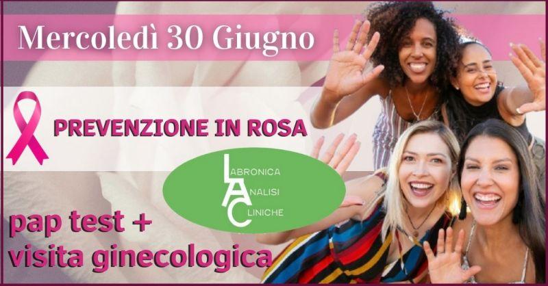 LABRONICA ANALISI CLINICHE - promozione prevenzione donna pap test e visita ginecologica