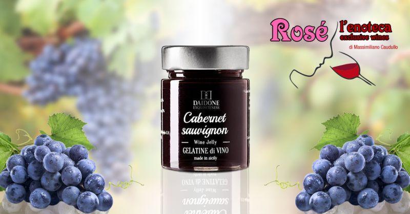 offerta gelatina di vino siciliana trapani - gelatina di vino rosso daidone castelvetrano