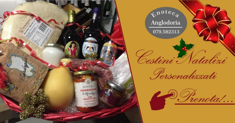 ENOTECA ANGLODORIA - offerta cestino natalizio personalizzato prodotti enogastronomici locali
