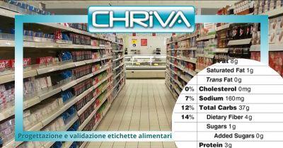 offerta progettazione etichette alimenti roma occasione validazione etichette alimentari roma