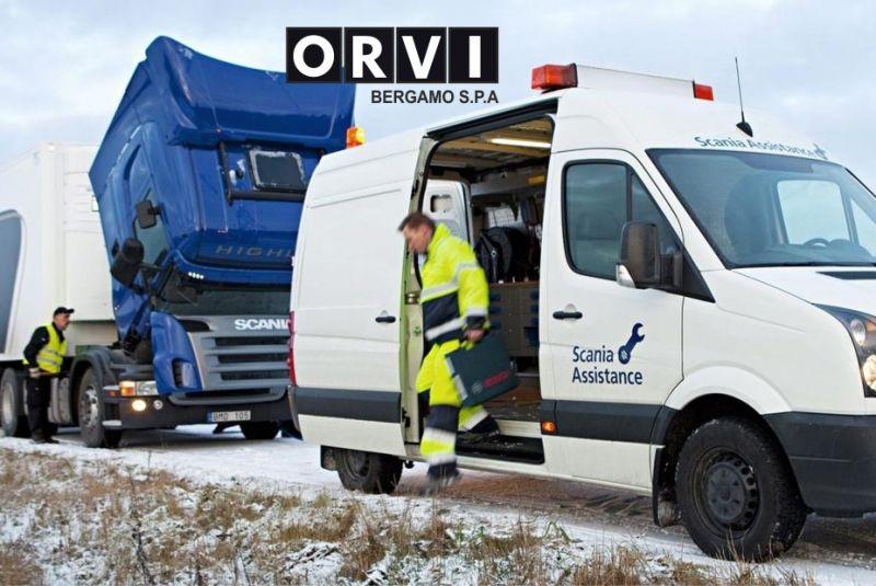 O.R.V.I. BERGAMO SPA offerta soccorso stradale scania pronto intervento 24 ore su 24 h assistenza