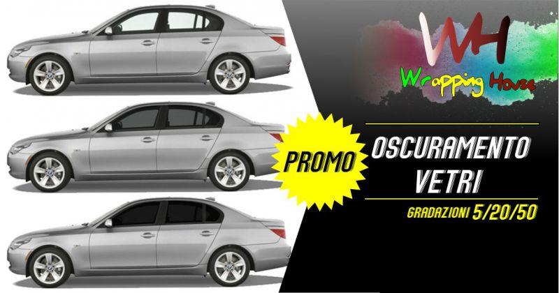 Wrapping House - promozione servizio di oscuramento vetri auto pellicola varie gradazioni