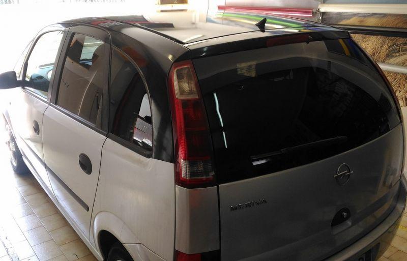 Nuovo Wrapping Bicolor Nero Grigio Opel Meriva Nero Lucido