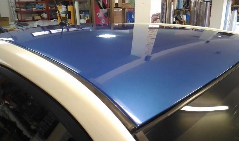 Rinnovo Wrapping Tetto e Specchietti Toyota IQ