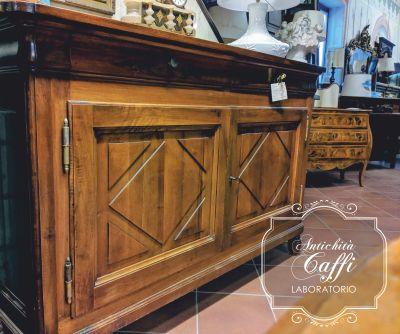 laboratorio antichita caffi offerta credenza noce massello cappuccino ante pannelli ottocenteschi