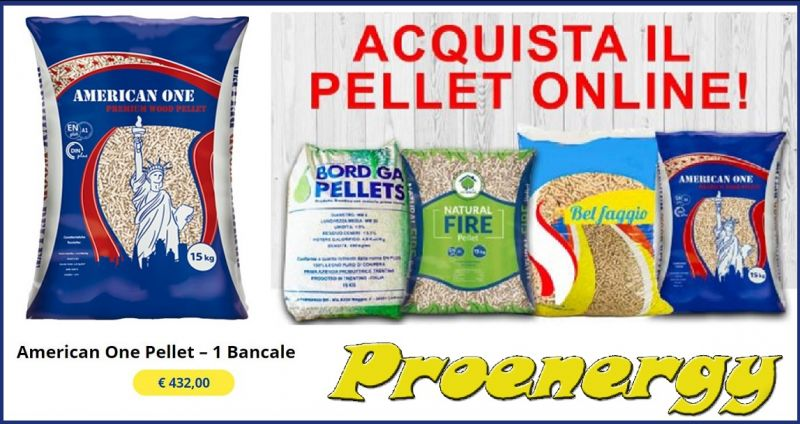 Electroservices Proenergy - Occasione vendita online bancale pellet American One Nuoro Orani