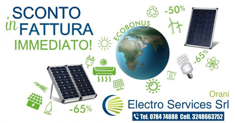 ELECTRO SERVICES ORANI - OFFERTA ECOBONUS SCONTO IN FATTURA IMMEDIATO E CESSIONE DEL CREDITO