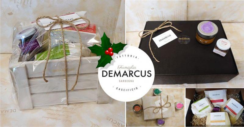 CASEIFICIO DEMARCUS shop online - offerta cesti natalizi con prodotti tipici sardi confezione regalo personalizzata