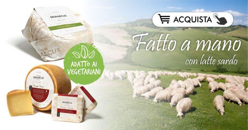 FORMAGGI SARDI CASEIFICIO DEMARCUS shop online - offerta formaggio sardo di pecora per vegetariani