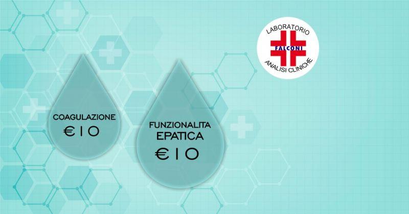 LABORATORIO ANALISI FALCONI  Cagliari - offerta check up funzionalita epatica e coagulazione