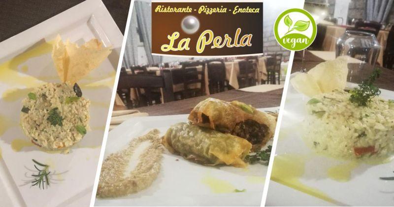 LA PERLA Berchidda - offerta ristorante dove mangiare piatti vegani creativi