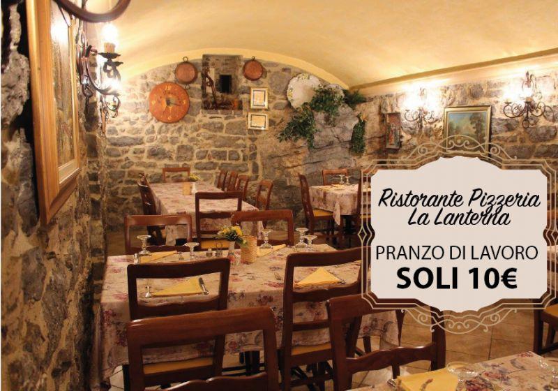 RISTORANTE PIZZERIA LA LANTERNA offerta pranzo di lavoro - promozione menu sedrina