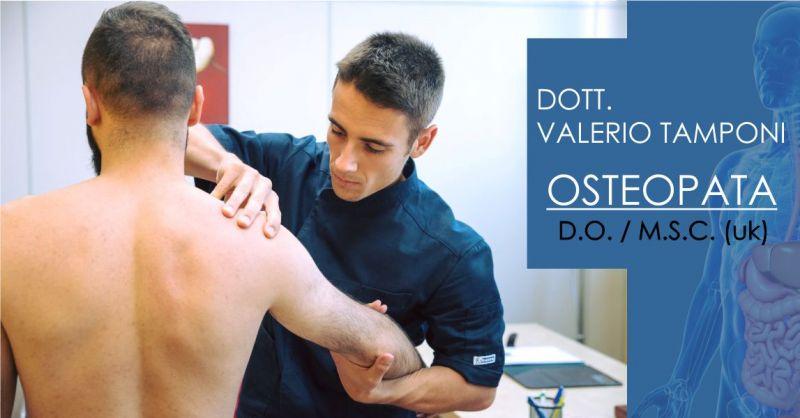 DOTT. VALERIO TAMPONI Olbia - offerta seduta osteopata professionista cura organismo e corpo